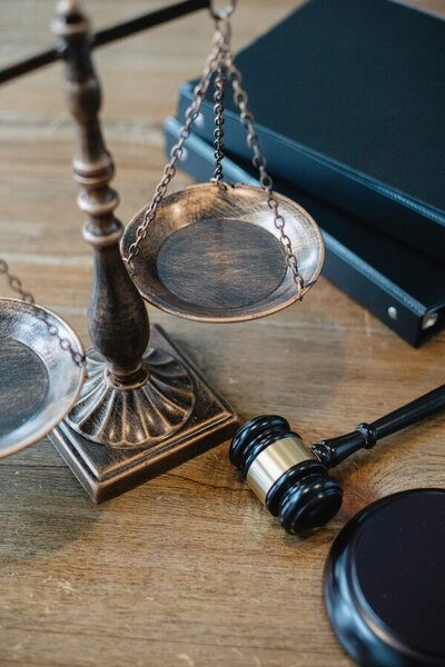legal scales and a gavel